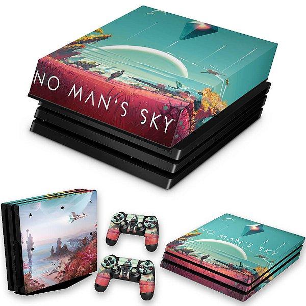 KIT PS4 Pro Skin e Capa Anti Poeira - No Man'S Sky