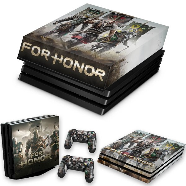 KIT PS4 Pro Skin e Capa Anti Poeira - For Honor