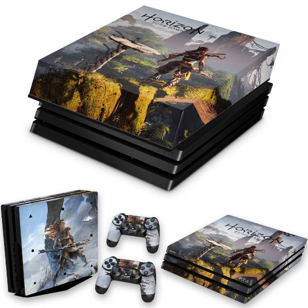 KIT PS4 Pro Skin e Capa Anti Poeira - Horizon Zero Dawn