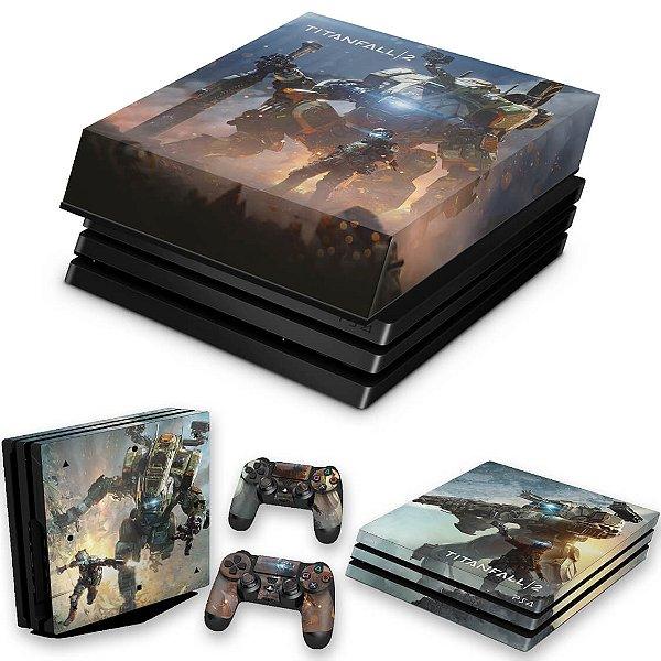 KIT PS4 Pro Skin e Capa Anti Poeira - Titanfall 2 #B