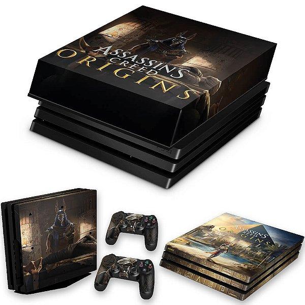 KIT PS4 Pro Skin e Capa Anti Poeira - Assassins Creed Origins