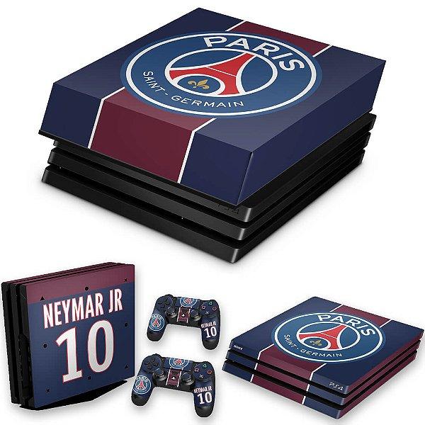 KIT PS4 Pro Skin e Capa Anti Poeira - Paris Saint Germain Neymar Jr Psg