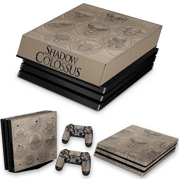 KIT PS4 Pro Skin e Capa Anti Poeira - Shadow Of The Colossus