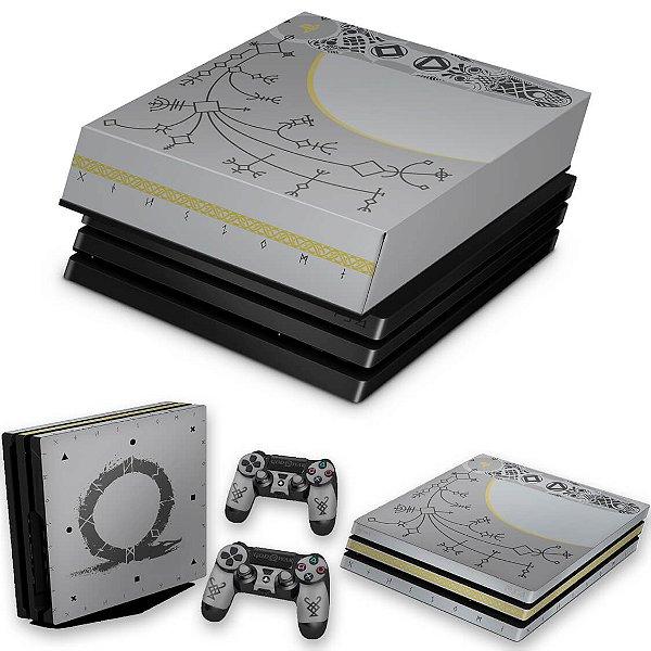 KIT PS4 Pro Skin e Capa Anti Poeira - God Of War Limited Edition