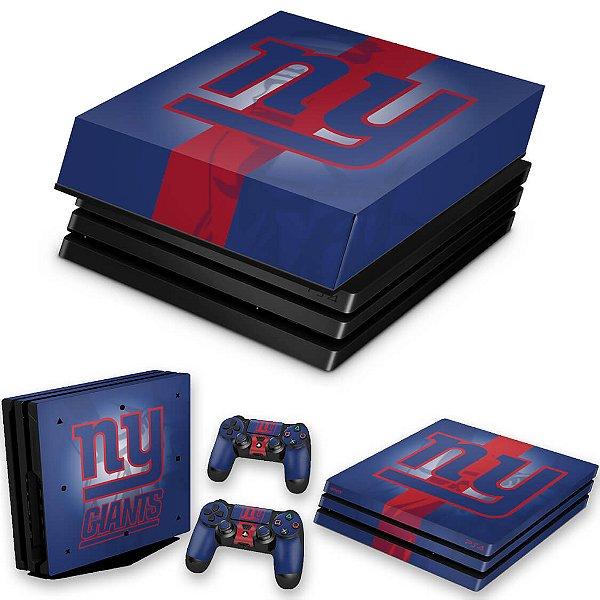KIT PS4 Pro Skin e Capa Anti Poeira - New York Giants - Nfl