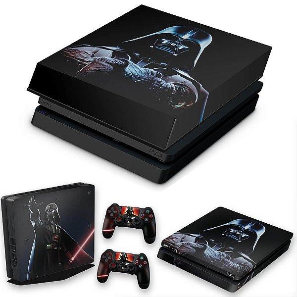 KIT PS4 Slim Skin e Capa Anti Poeira - Star Wars - Darth Vader