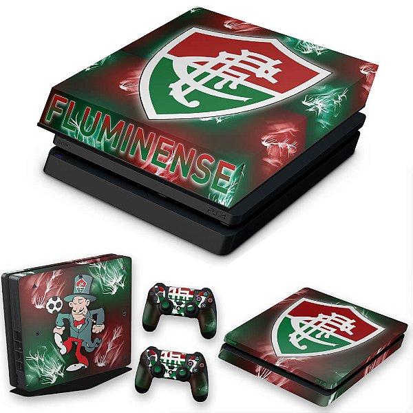 KIT PS4 Slim Skin e Capa Anti Poeira - Fluminense