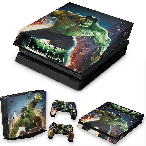 KIT PS4 Slim Skin e Capa Anti Poeira - Hulk