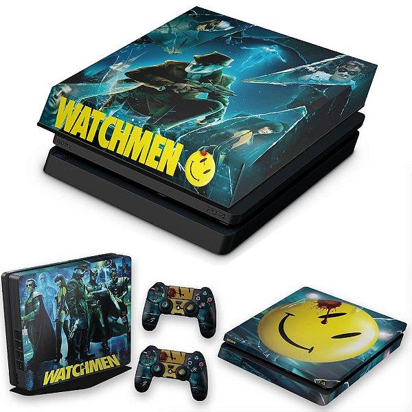 KIT PS4 Slim Skin e Capa Anti Poeira - Watchmen