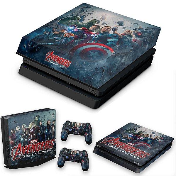 KIT PS4 Slim Skin e Capa Anti Poeira - Avengers - Age Of Ultron