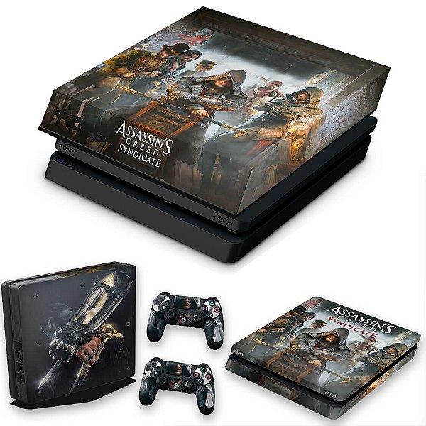 KIT PS4 Slim Skin e Capa Anti Poeira - Assassins Creed Syndicate