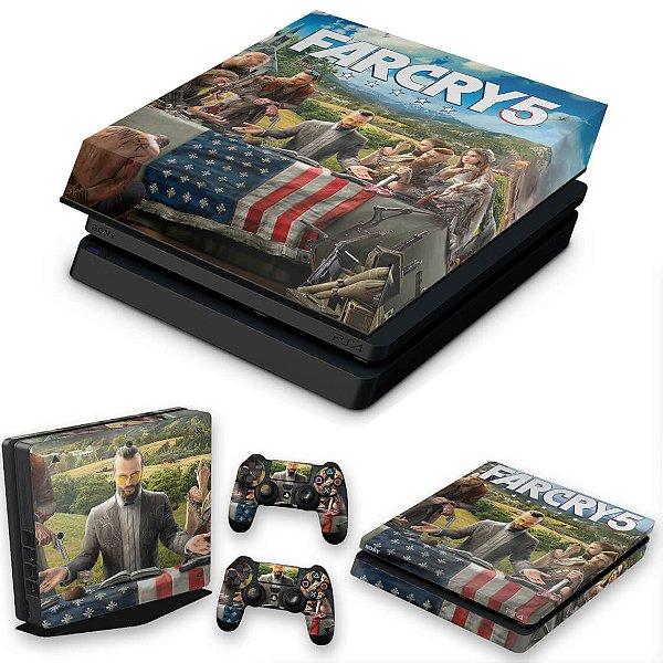 KIT PS4 Slim Skin e Capa Anti Poeira - Far Cry 5