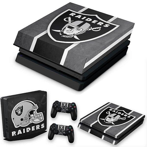 KIT PS4 Slim Skin e Capa Anti Poeira - Oakland Raiders Nfl
