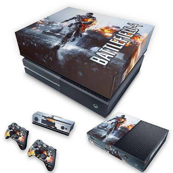 KIT Xbox One Fat Skin e Capa Anti Poeira - Battlefield 4
