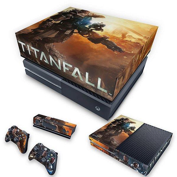 KIT Xbox One Fat Skin e Capa Anti Poeira - Titanfall