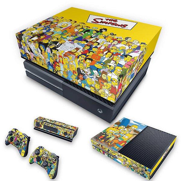 KIT Xbox One Fat Skin e Capa Anti Poeira - The Simpsons