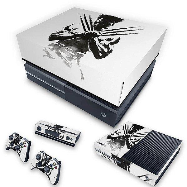 KIT Xbox One Fat Skin e Capa Anti Poeira - Wolverine - X Men