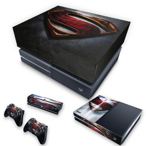 KIT Xbox One Fat Skin e Capa Anti Poeira - Superman - Super Homem