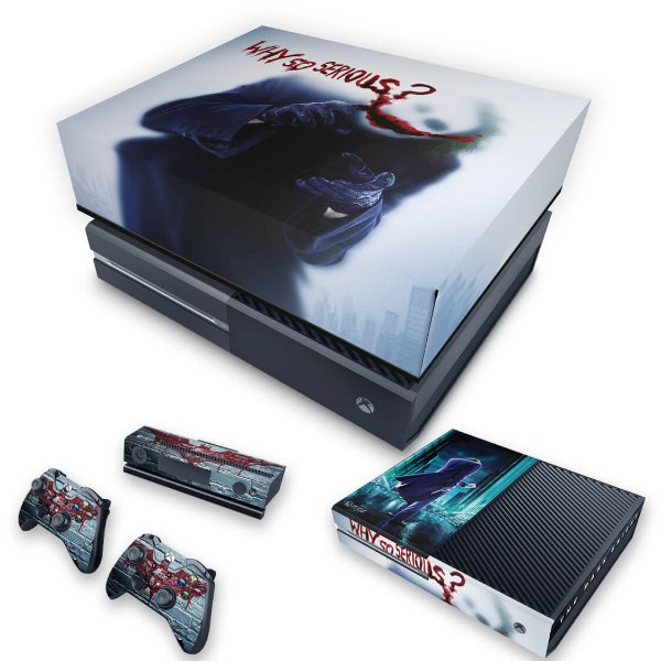 KIT Xbox One Fat Skin e Capa Anti Poeira - Coringa - Joker