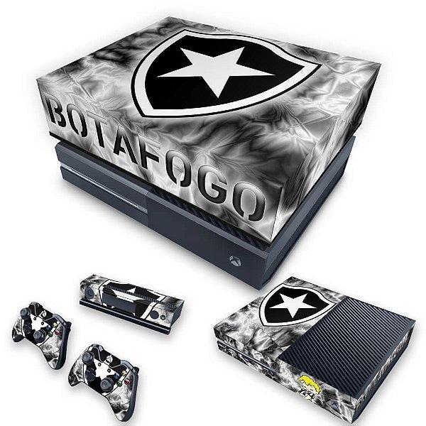 KIT Xbox One Fat Skin e Capa Anti Poeira - Botafogo