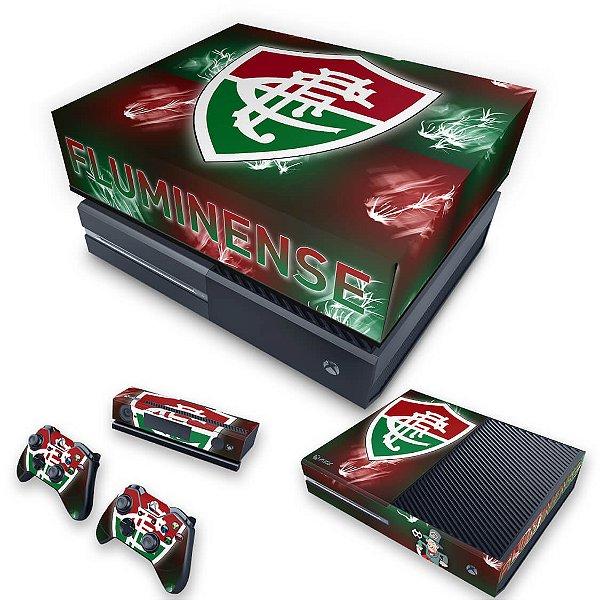 KIT Xbox One Fat Skin e Capa Anti Poeira - Fluminense