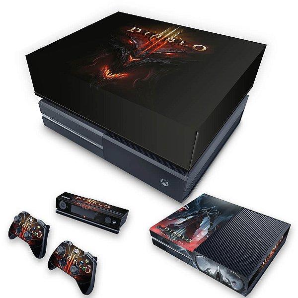 KIT Xbox One Fat Skin e Capa Anti Poeira - Diablo