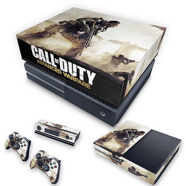 KIT Xbox One Fat Skin e Capa Anti Poeira - Call of Duty Advanced Warfare