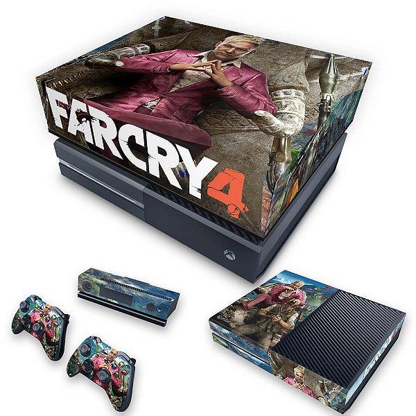 KIT Xbox One Fat Skin e Capa Anti Poeira - Far Cry 4