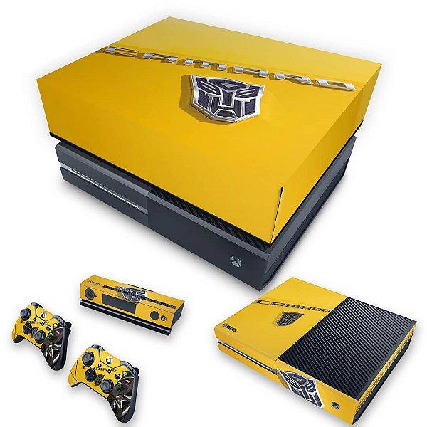 KIT Xbox One Fat Skin e Capa Anti Poeira - Camaro - Transformers