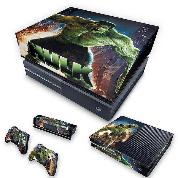 KIT Xbox One Fat Skin e Capa Anti Poeira - Hulk