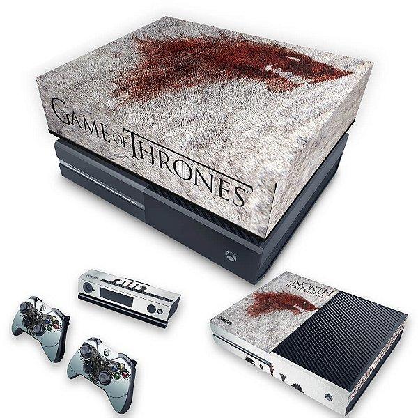 KIT Xbox One Fat Skin e Capa Anti Poeira - Game of Thrones #A