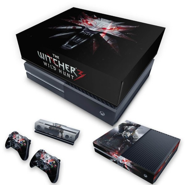 KIT Xbox One Fat Skin e Capa Anti Poeira - The Witcher 3 #A