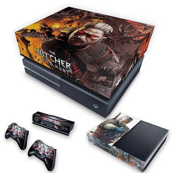 KIT Xbox One Fat Skin e Capa Anti Poeira - The Witcher 3 #B