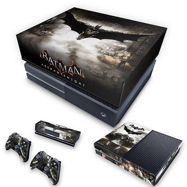 KIT Xbox One Fat Skin e Capa Anti Poeira - Batman Arkham Knight