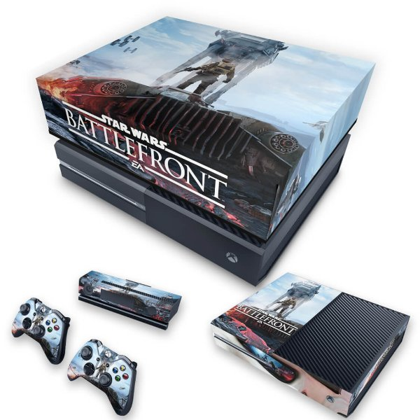 KIT Xbox One Fat Skin e Capa Anti Poeira - Star Wars - Battlefront