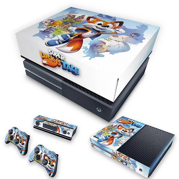 KIT Xbox One Fat Skin e Capa Anti Poeira - Super Lucky's Tale