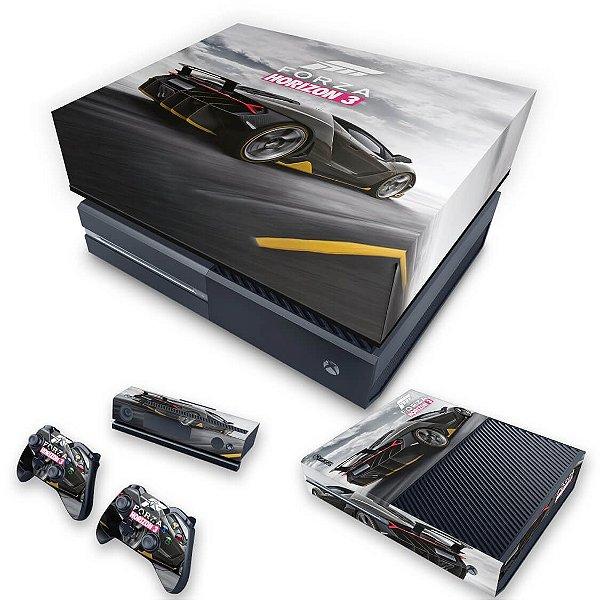 KIT Xbox One Fat Skin e Capa Anti Poeira - Forza Horizon 3