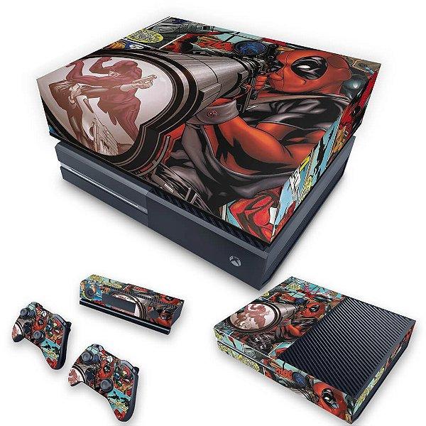 KIT Xbox One Fat Skin e Capa Anti Poeira - Deadpool