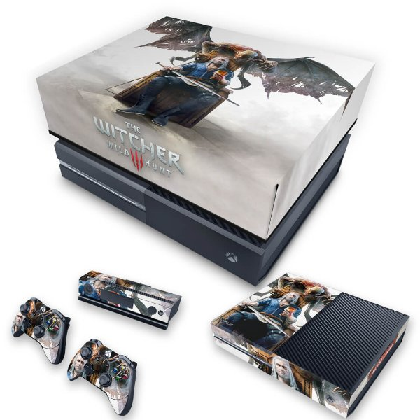 KIT Xbox One Fat Skin e Capa Anti Poeira - The Witcher 3 Blood And Wine