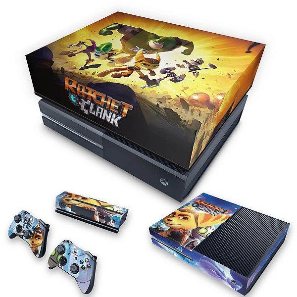 KIT Xbox One Fat Skin e Capa Anti Poeira - Ratchet and Clank