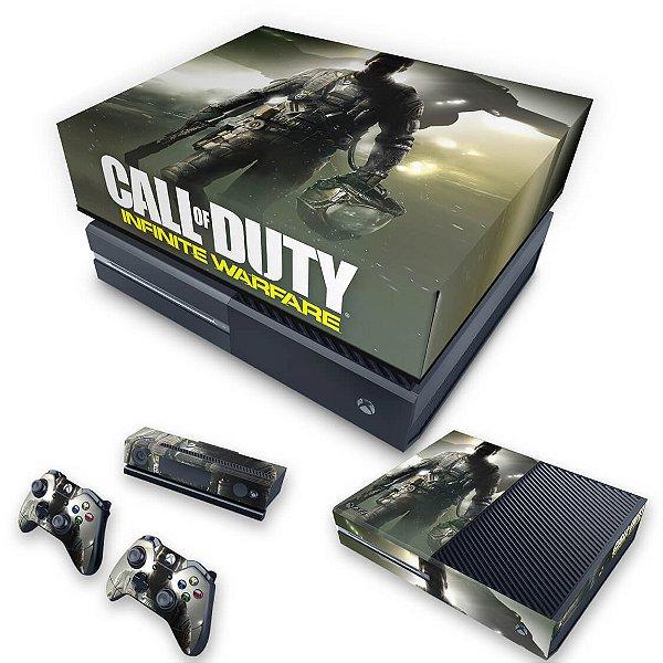 KIT Xbox One Fat Skin e Capa Anti Poeira - Call of Duty: Infinite Warfare