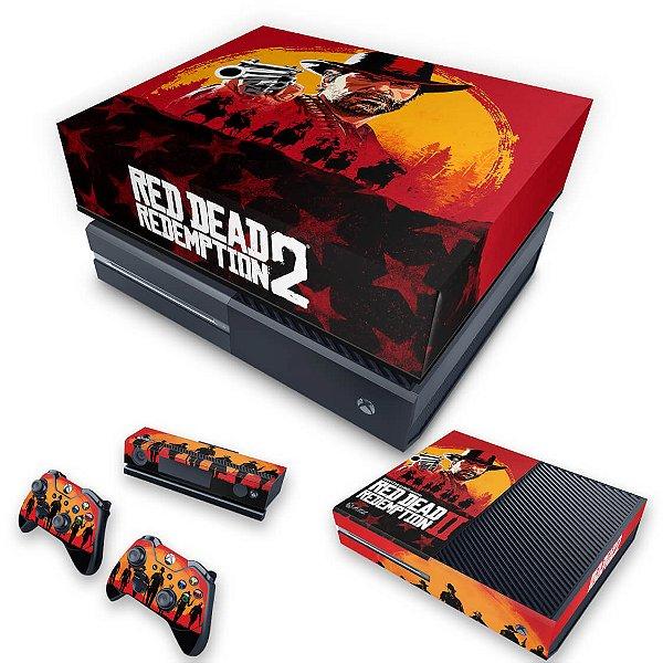 KIT Xbox One Fat Skin e Capa Anti Poeira - Red Dead Redemption 2