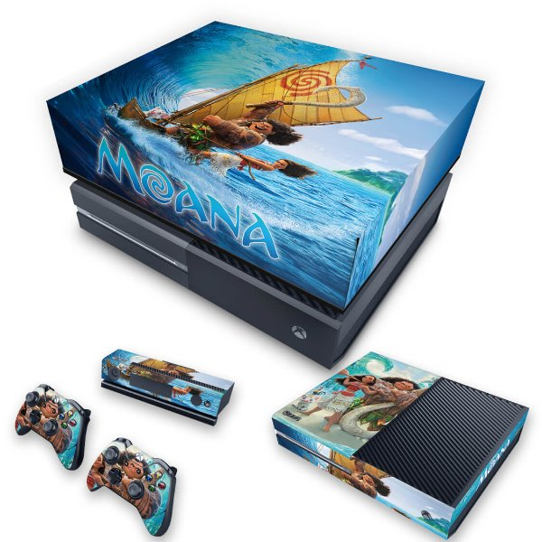 KIT Xbox One Fat Skin e Capa Anti Poeira - Disney Moana
