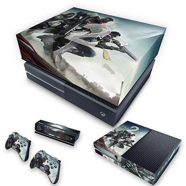 KIT Xbox One Fat Skin e Capa Anti Poeira - Destiny 2