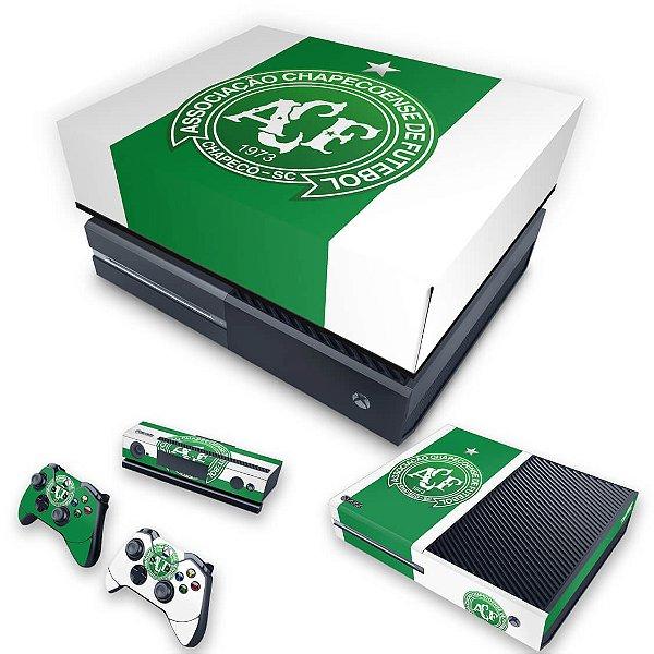 KIT Xbox One Fat Skin e Capa Anti Poeira - Chapecoense Chape