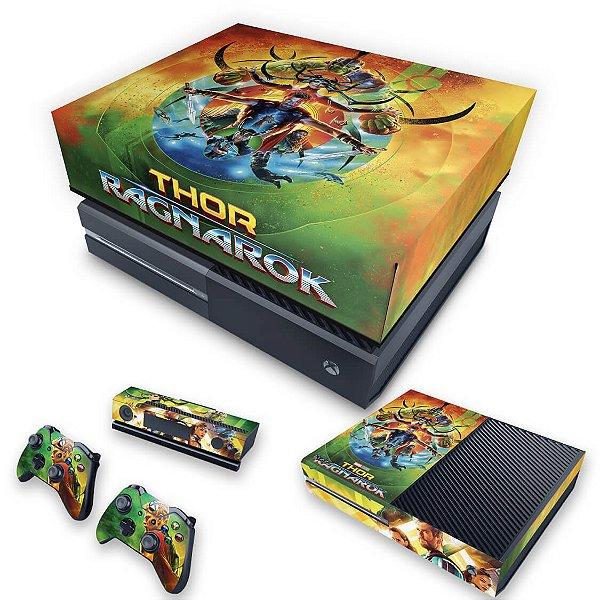 KIT Xbox One Fat Skin e Capa Anti Poeira - Thor Ragnarok