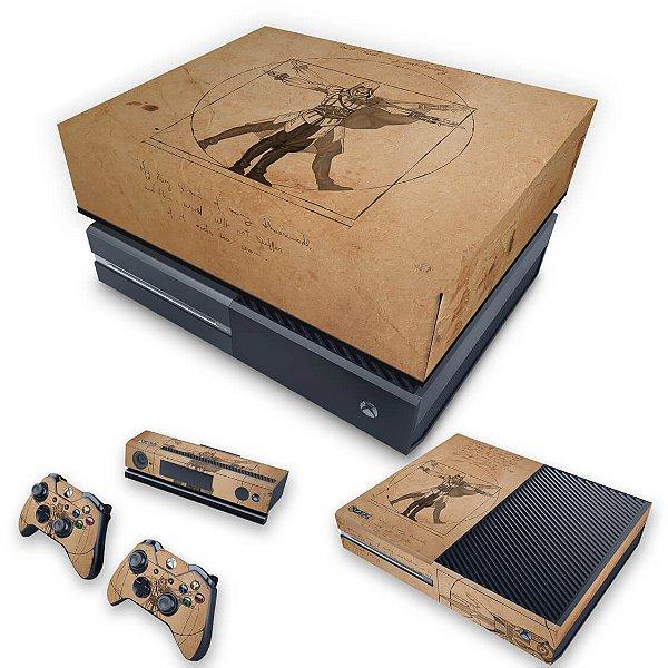 KIT Xbox One Fat Skin e Capa Anti Poeira - Assassin's Creed Vitruviano