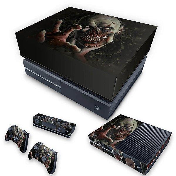 KIT Xbox One Fat Skin e Capa Anti Poeira - Zombie Zumbi The Walking