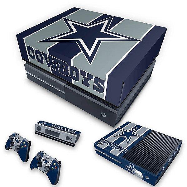 KIT Xbox One Fat Skin e Capa Anti Poeira - Dallas Cowboys NFL