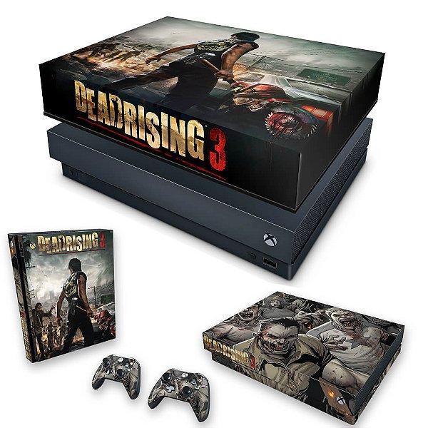 KIT Xbox One X Skin e Capa Anti Poeira - Dead Rising 3